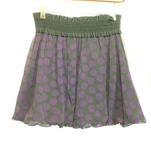 Candies elastic waist polka dot mini skirt